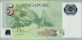 Singapur / Singapore P.neu 5 Dollars (2017) Polymer (1)