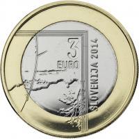 Slowenien 3 Euro 2014 Janez Puhar