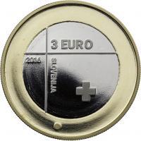 Slowenien 3 Euro 2016 Rotes Kreuz PP