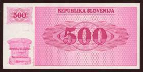 Slowenien / Slovenia P.08a 500 Tolarjew (19)90 (1)
