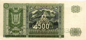 Slowakei / Slovakia P.12s 500 Kronen 1941 Specimen (1)
