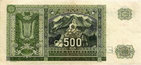 Slowakei / Slovakia P.12s 500 Kronen 1941 (3)