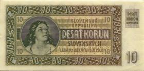 Slowakei / Slovakia P.04s 10 Korun 1939 Specimen (2)
