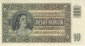 Slowakei / Slovakia P.04s 10 Korun 1939 Specimen (1)