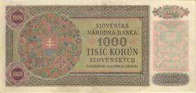 Slowakei / Slovakia P.13s 1000 Kronen 1940 (3+)