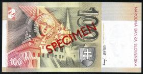 Slowakei / Slovakia P.22s 100 Kronen 1993 (1) Specimen