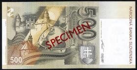 Slowakei / Slovakia P.23s 500 Kronen 1993 (1) Specimen