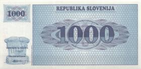 Slowenien / Slovenia P.09s1 1000 Tolarjew 1992 Specimen (1)