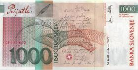 Slowenien / Slovenia P.22 1000 Tolarjew 2000 (1)