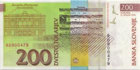Slowenien / Slovenia P.15c 200 Tolarjew 2001 (1)