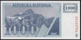 Slowenien / Slovenia P.09b 1000 Tolarjew 1992 (1)