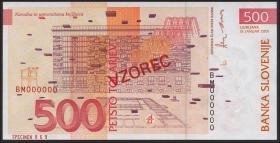 Slowenien / Slovenia P.16s 500 Tolarjew 2001 (1) Specimen