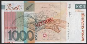 Slowenien / Slovenia P.32as 1000 Tolarjew 2003 Specimen (1)