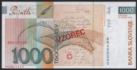 Slowenien / Slovenia P.32cs 1000 Tolarjew 2005 Specimen (1)
