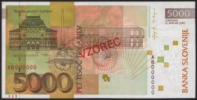 Slowenien / Slovenia P.33as 5000 Tolarjew 2002 Specimen (1)
