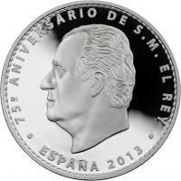 Spanien 10 Euro 2013 75. Geb. Juan Carlos PP