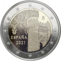 Spanien 2 Euro 2021 Altstadt von Toledo PP