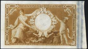 Spanien / Spain P.041 100 Pesetas 1899 (2+)