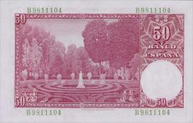 Spanien / Spain P.141 50 Pesetas 1951 (1)