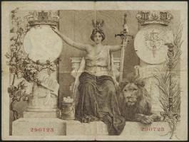 Spanien / Spain P.061 1000 Pesetas 1907 (3-)