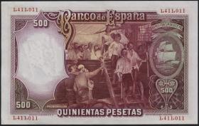 Spanien / Spain P.084 500 Pesetas 1931 (1/1-)