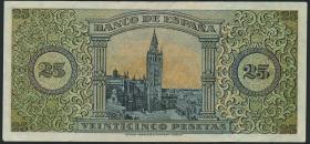 Spanien / Spain P.111 25 Pesetas 1938 (2)