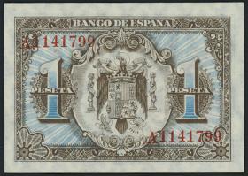 Spanien / Spain P.121 1 Peseta 1940 (1)