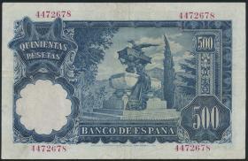Spanien / Spain P.142 500 Pesetas 1951 (3)