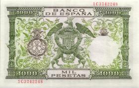 Spanien / Spain P.149 1000 Pesetas 1957 (58) (2+)