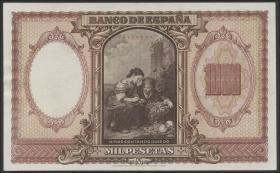 Spanien / Spain P.120 1000 Pesetas 1940 (2+)