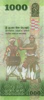 Sri Lanka P.neu 1000 Rupien 2018 Gedenkbanknote (1)