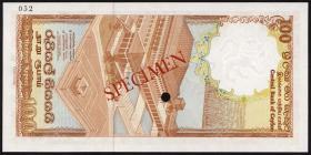 Sri Lanka P.095s 100 Rupien 1982 Specimen (1)