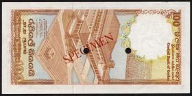 Sri Lanka P.095s 100 Rupien 1982 S/1 Specimen (1)