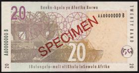 Südafrika / South Africa P.129as 20 Rand (2005) Specimen (1)