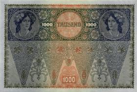 Österreich / Austria P.061 1000 Kronen 1902 (1919) II. Auflage (1)