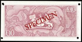 St. Helena / Saint Helena P.08s 10 Pounds (1985) (1) Specimen