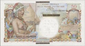 St. Pierre & Miquelon P.30a 1 NF auf 50 Francs (1960) (1)
