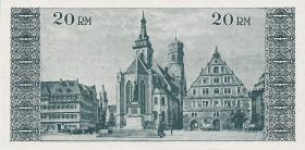 Notgeld Stadt Stuttgart 20 Reichsmark 1.5.1945 (1-)