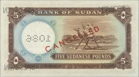 Sudan P.09bs 5 Pounds 1965 Specimen (1)