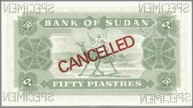 Sudan P.07bs 50 Piastres 1968 Specimen (1)