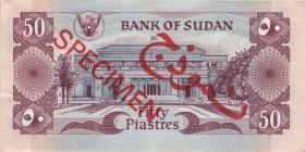 Sudan P.24s 50 Piaster 1983 Specimen (2)