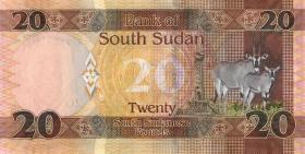 Süd Sudan / South Sudan P.13c 20 Südsudanesische Pfund 2017 (1)