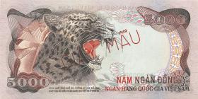 Südvietnam / Viet Nam South P.035s 5000 Dong (1975) Specimen (1)