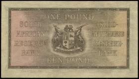 Südafrika / South Africa P.084e 1 Pound 7.4.1943 (1-)