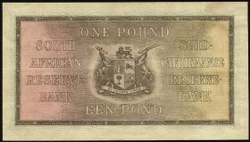 Südafrika / South Africa P.084e 1 Pound 27.4.1943 (2+)