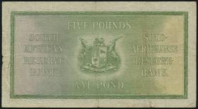 Südafrika / South Africa P.086b 5 Pounds 1937 (3-)