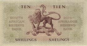 Südafrika / South Africa P.090c 10 Shillings 20.11.1957 (Englisch) (1)