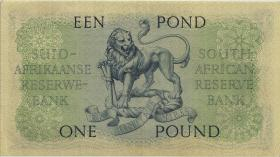 Südafrika / South Africa P.092d 1 Pound 17.12.1957 (Englisch) (3)