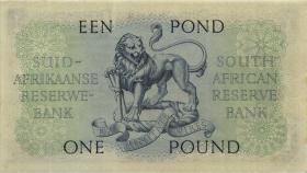 Südafrika / South Africa P.093d 1 Pound 1951 (Afrikaans) (1-)