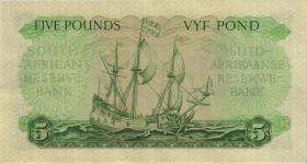 Südafrika / South Africa P.096c 5 Pounds 27.2.1958 (Englisch)  (1/1-)